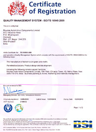 ISO/TS 16949:2009 Certification